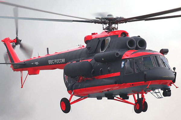Авиабаза на Камчатке получила новый арктический вертолёт Ми-8АМТШ-ВА