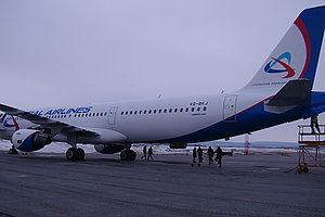 """Основу парка воздушных судов  """"Уральских авиалиний """" составляют современные и комфортабельные самолеты европейского..."""