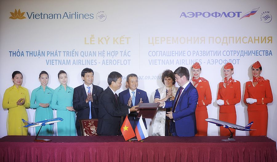 Vietnam Airlines и Аэрофлот подписали меморандум о взаимопонимании