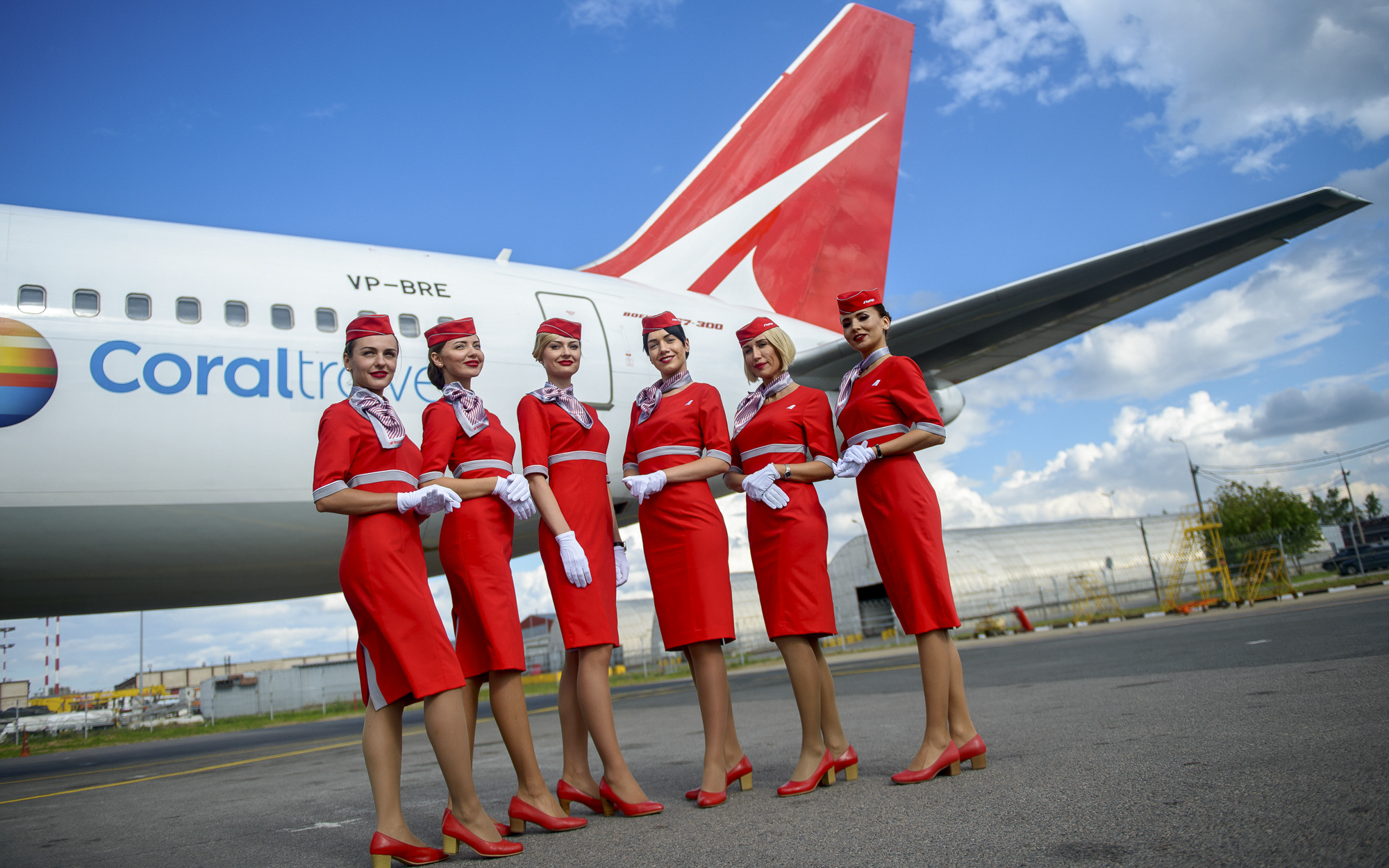 ladies in red royal flight presents a new uniform russian